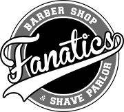 Fanatics Barber Shop & Shave Parlor Sticky Logo